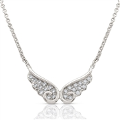 Nomination Angel Silver CZ Double Wing Necklace