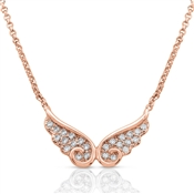 Nomination Angel Rose Gold CZ Double Wing Necklace