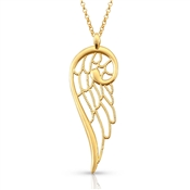 Nomination Angel Large Gold Single Wing Necklace
