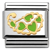 Nomination Cashmere Green Hearts Charm