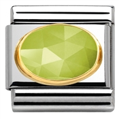 Nomination Faceted Light Green Jade Charm