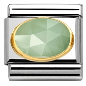 Nomination Faceted Sage Green Jade Charm
