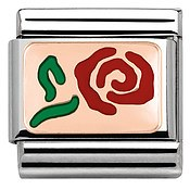 Nomination Rose Gold Red Rose Charm