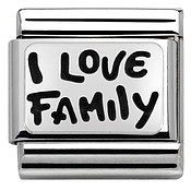 Nomination I Love Family Charm