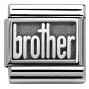 Nomination Silver Oxidised Brother Charm