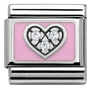 Nomination Pink CZ Heart Charm