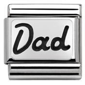 Nomination Silver Dad Charm