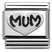 Silver Mum Charm by Nomination