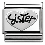 Silver Sister Charm by Nomination