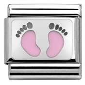 Baby Pink Footprints Charm by Nomination