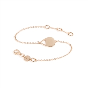Daisy London Single Chain Plectrum Rose Gold Plated Bracelet