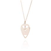 Daisy London You Make Loving Fun Rose Gold Plated Necklace