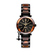 Vivienne Westwood Black & Brown Orb Dark Watch