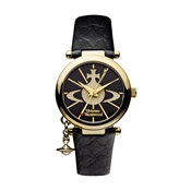 Vivienne Westwood Black & Gold Orb Watch