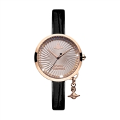 Vivienne Westwood Black & Rose Gold Bow Watch