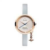 Vivienne Westwood Blue & Rose Gold Bow Watch