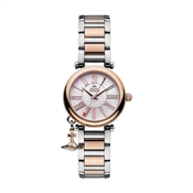 Vivienne Westwood Silver & Rose Gold Mother Orb Watch