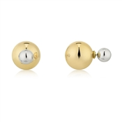 August Woods Outlet  Front & Back Earrings Gold