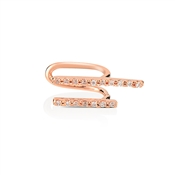Dirty Ruby Outlet Rose Gold Two Bar Ear Cuff