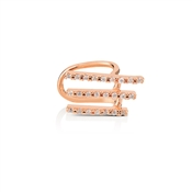 Dirty Ruby Outlet Rose Gold Three Bar Ear Cuff