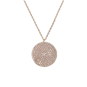 August Woods Rose Gold Full Circle Necklace