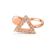 Dirty Ruby Outlet Rose Gold Triangle Ear Cuff