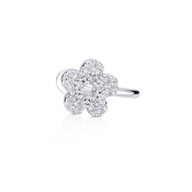 Dirty Ruby Outlet Silver Flower Ear Cuff