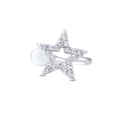 Dirty Ruby Outlet Silver Star Ear Cuff