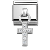 Nomination Silver Hanging Cross Charm