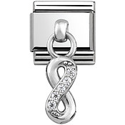 Nomination Silver Hanging Infinity Charm