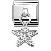 Nomination Silver Hanging Star Charm