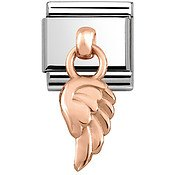 Nomination Rose Gold Hanging Wing Charm