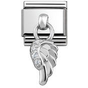 Nomination Silver Hanging Wing Charm