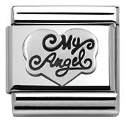 Nomination Silver My Angel Heart Charm