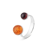 Argento Outlet Amber Mix Circle Ring