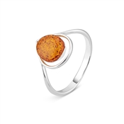 Argento Outlet Amber Teardrop Ring