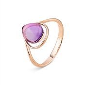 Argento Outlet Amethyst Teardrop Ring