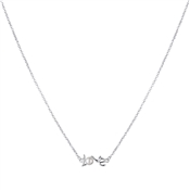 Argento Outlet Love Script Pearl Necklace