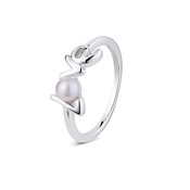 Argento Outlet Love Script Pearl Ring