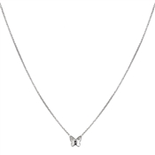 Argento Clear Swarovski Crystal Butterfly Necklace