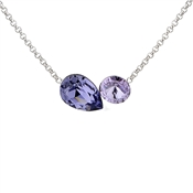 Argento Purple Swarovski Crystal Shapes Necklace