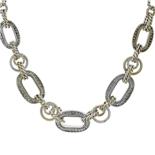 August Woods Mixed Metal Links Necklace