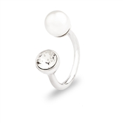 August Woods Outlet  Crystal & Pearl Torque Ring