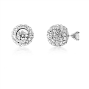 August Woods Outlet  Crystal Front & Back Earrings