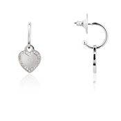 August Woods Outlet  Silver Hearts Drop Earrings