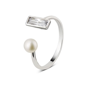 Dirty Ruby Outlet Pearl Rectangle Wrap Ring
