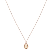 August Woods Rose Gold November Necklace