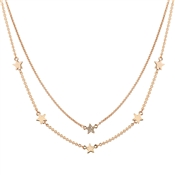 August Woods Rose Gold Layered Star Necklace