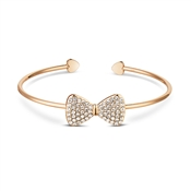 Dirty Ruby Rose Gold Crystal Bow Bangle