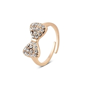 Dirty Ruby Outlet Rose Gold Crystal Bow Ring